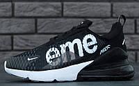 Кроссовки Nike Air Max 270 SUPREME black. Живое фото. Топ реплика