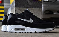 Кроссовки Nike Air Max 90 Black/White. Живое фото (Реплика ААА+)