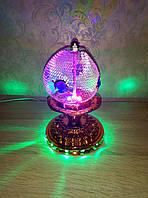 Светильник ночной крутящийся разноцветный Шар №123
