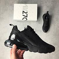 Кроссовки Nike Air Max 270 black. Живое фото. Топ реплика