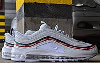 Мужские кроссовки Nike Air Max 97 OG x  Undefeated White. Живое фото (аир максы, эир макс)