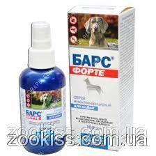БАРС ФОРТЕ спрей для собак (100 мл)Агроветзащита (Россия)