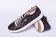 Кожаные подростковые кеды, детская обувь от производителя модель ДЖ7004