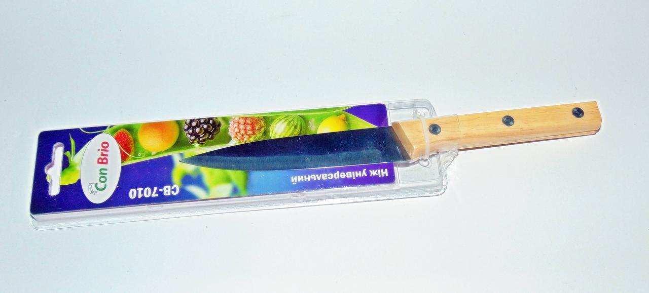 Нож универсальный Con Brio с деревянной ручкой лезвие 12,5см