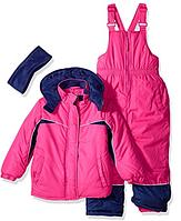 Зимний раздельный комбинезон Pink Platinum(США) розовый для девочки 12мес, фото 1