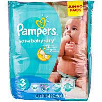 Подгузники для детей PAMPERS Active Baby (Памперс Актив Бэби) Midi (Миди) 3 от 5 до 9 кг 82 шт