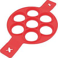 Силиконовая форма для оладьев Красный