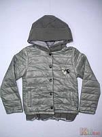 Курточка демисезонная для девочки серая (164 см)  No name 2125000503530