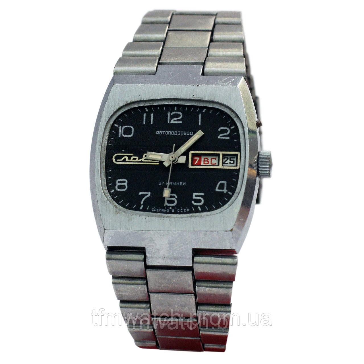 Мужские часы Слава автоподзавод. Слава-танк - Магазин старинных, винтажных  и антикварных часов 2f4c390ba1d