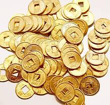 Монеты золотого цвета Фен-шуй