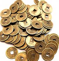 Фен-шуй монеты бронзового цвета