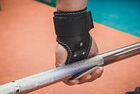 Крюк для турніка та тяги, сталь + шкіра