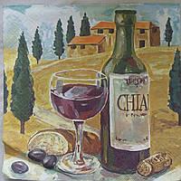 """Салфетки для декупажа """"Вино"""", 33х33 см, 8"""