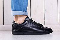 Кроссовки мужские и кеды Adidas x Raf Simons Stan Smith Black (Топ качество, реплика) (реплика)