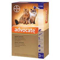 Средство от блох, клещей и глистов для кошек 4-8 кг Bayer Advocate, 1 пипетка