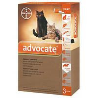 Средство от блох, клещей и глистов для кошек до 4 кг Bayer Advocate, 1 пипетка
