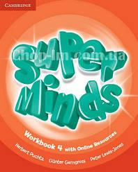 Super Minds 4 Workbook with Online Resources / Рабочая тетрадь