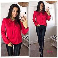 4c39733a141 Женская свободная блузка из шелка tez641395