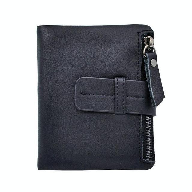 Мужской кожаный портмоне на кнопке. Стильный мужской кошелек. Качественный кошелек.