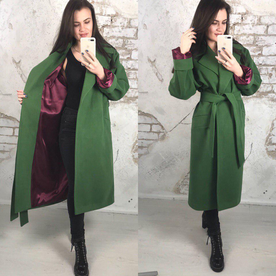 807d7a0a72e Купить Кашемировое пальто ниже колена с поясом tez580271 недорого в ...