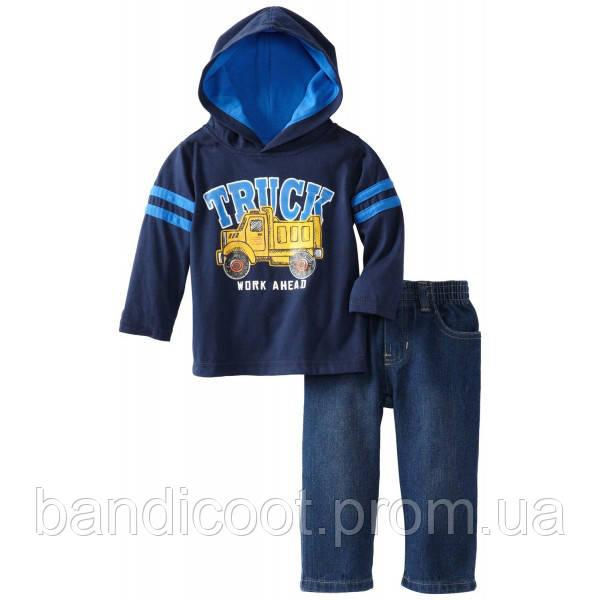 Реглан и джинсы на мальчика Грузовик Kids Headquarters, 12 мес.