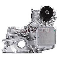 Крышка двигателя ГАЗ-3302 дв.CUMMINS ISF 2.8 передняя с охладителем, вод.и масляным насосом СБ