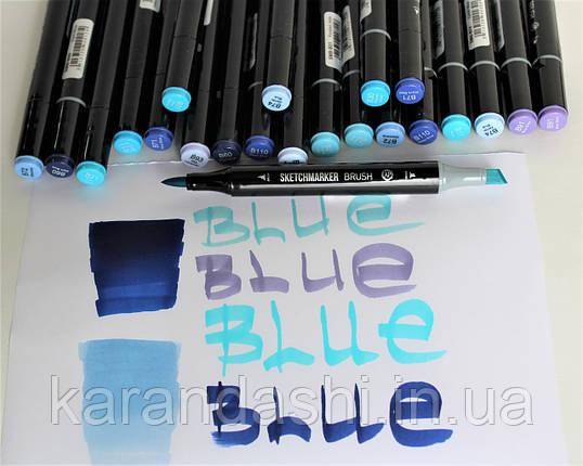 Маркеры SKETCHMARKER BRUSH Blue, фото 2