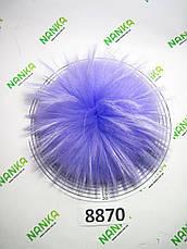 Меховой помпон Енот, Сирень, 21 см, 8870, фото 3