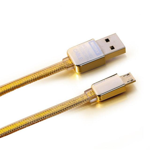 MicroUSB кабель Remax Gold King Kong 1m gold