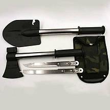 Малая саперная лопата с чехлом 5 в 1 Military, фото 3