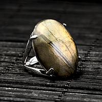 Лабрадор, 25*18 мм, серебро 925, кольцо, 853КЛЛ