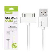 USB кабель Remax Classic iPhone/iPod/iPad RC-007i4 2/3/3Gs/4/4s 30-pin, 1m  white