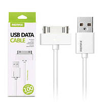 USB кабель Remax Classic iPhone/iPod/iPad RC-007i4 2/3/3Gs/4/4s 30-pin, 1m  white