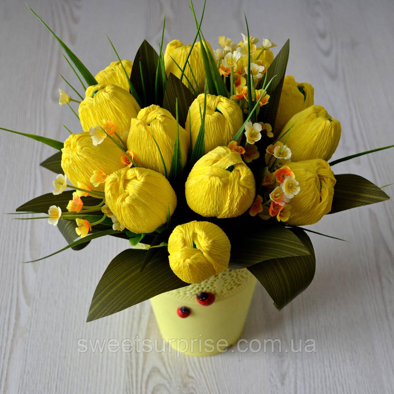 """Весенний букет из конфет """"Тюльпаны"""""""