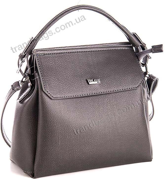 b6472110c925 Женская сумка WeLassie 54021 серый женские сумки оптом и в розницу в Одессе  км