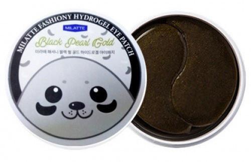 Milatte Fashiony Black Pearl Gold Hydrogel Eye Patch