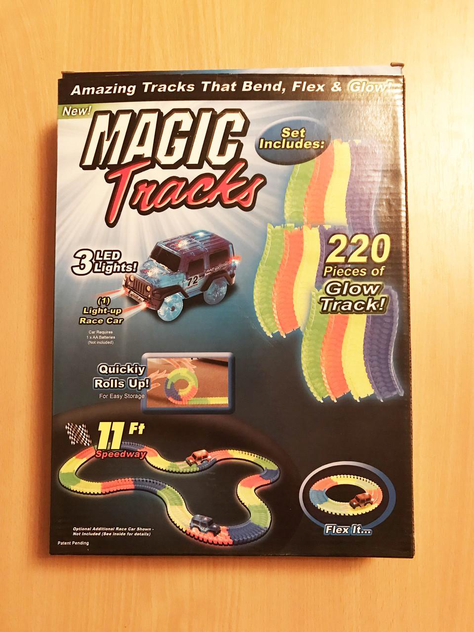 Magic Track с машинкой в наборе, 220 деталей, длина 3 метра