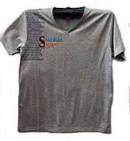 Футболка мужская модная с надписями размер норма XL-3XL купить оптом со склада 7км Одесса