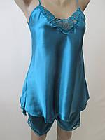Атласные пижамы однотонного цвета., фото 1