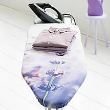 Гладильная доска со стационарной подставкой для парового утюга, 124х38 см (B) Brabantia Lavender (108846), фото 3