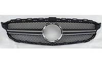 Решетка радиатора Mercedes W205 AMG серебряная2050458