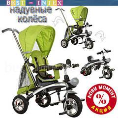Велосипед+беговел M 3212-3 Салатовый (надувные колёса)