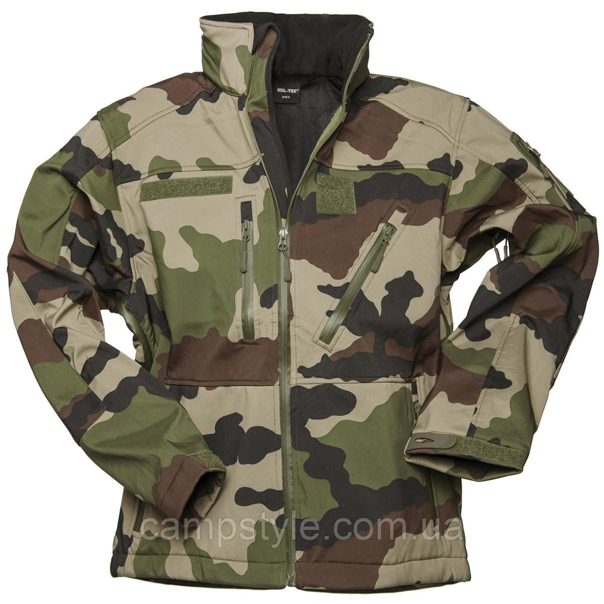 Куртка тактическая демисезонная Mil-tec Softshell SCU 14 CCE