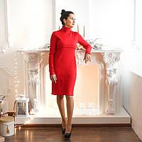Силуэтное платье-гольф для кормящих и беременных, фото 1