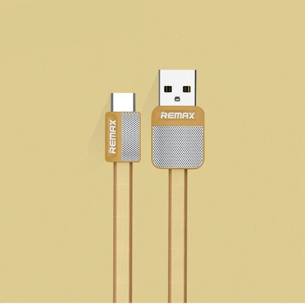 USB кабель Remax Platinum RC-044a Type-C to USB, 1m gold