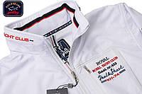Шикарный спортивный костюм батал( увеличенный размер) Paul&Shark 3XL,4XL,5XL,6ХL,с потайным капюшоном.Белый.