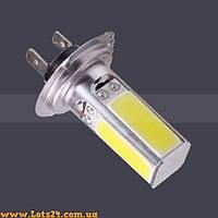 Авто-лампы H7 4 COB LED 6000К (светодиодные лампочки, лучше чем галогеновые и ксенон)