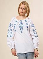 Стильная белая вышитая рубашка