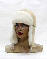 Женская норковая шапка-ушанка (ж.паломино)