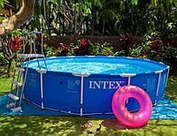 Каркасный бассейн Intex 28200, диаметр 305см. Бассейны во двор, бассейны наливные интекс, фото 1